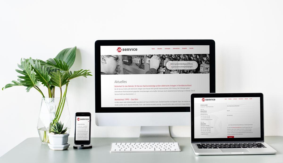 Webdesign Referenz 2K Service GmbH