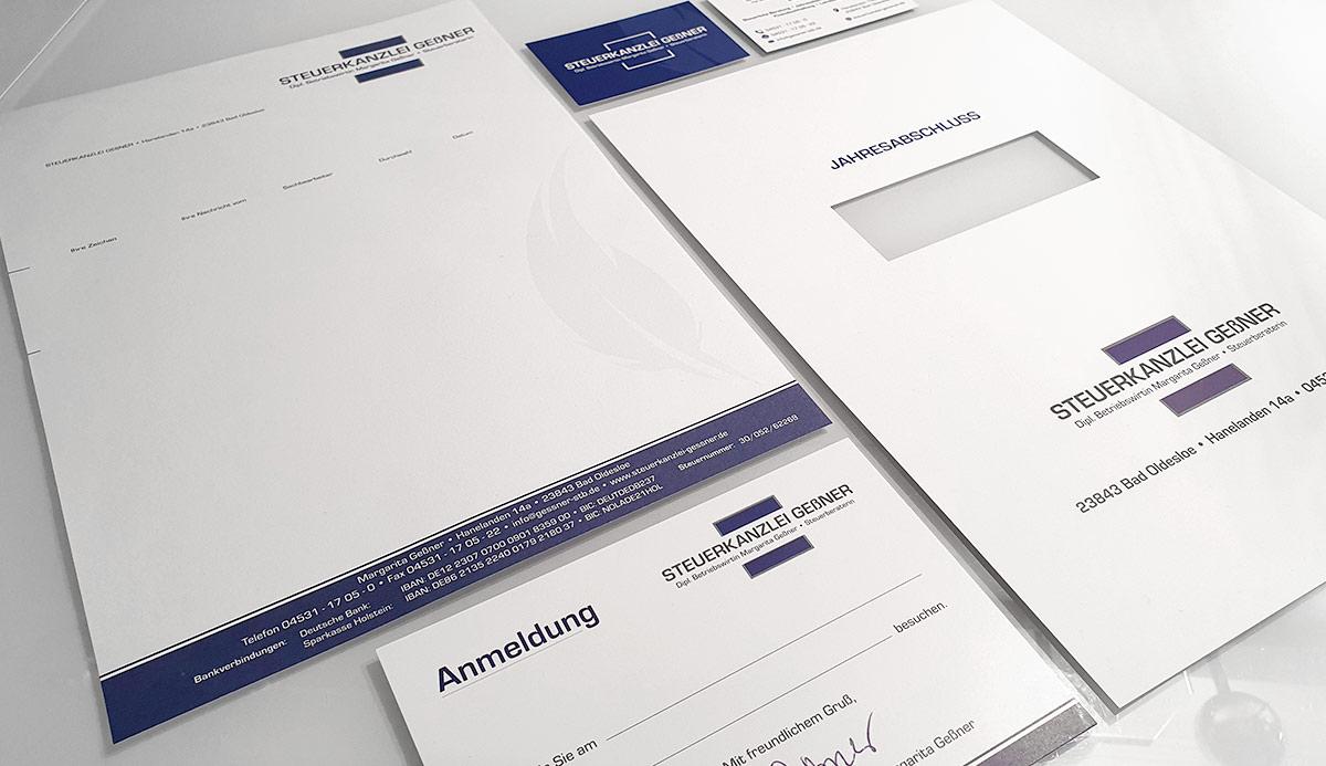 Referenz Corporate Design Briefpapier Visitenkarten