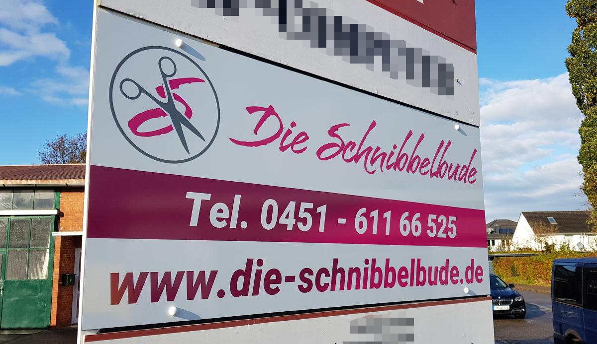 Referenz Werbeschild Schnibbelbude