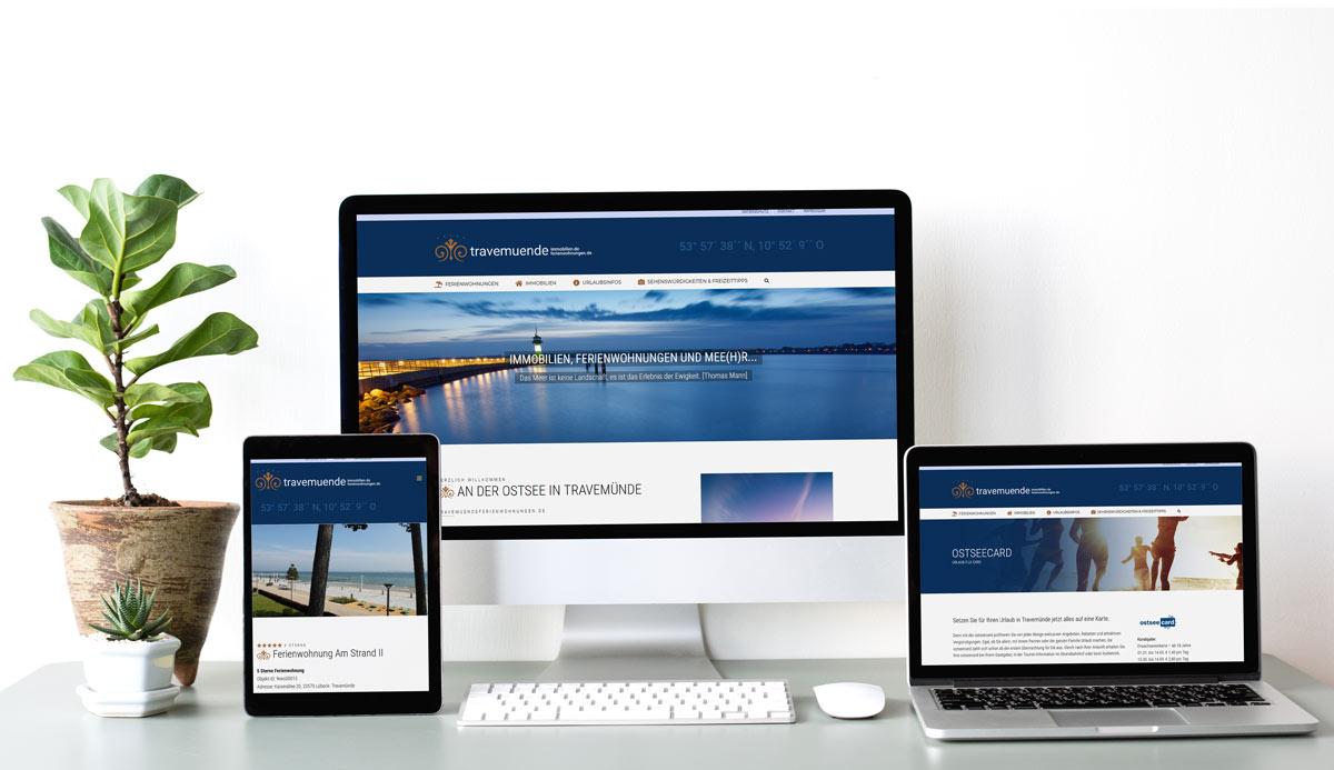 Webdesign Referenz Travemündefereinwohnungen