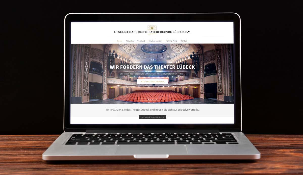 Webdesign Referenz Theaterfreunde Lübeck